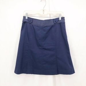 LILLY PULITZER Blue Button Tab Above-Knee Skirt